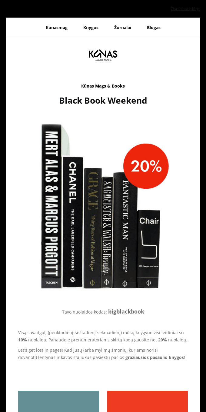 -20% for all Books ans Magazines! Black Book Weekend🎁