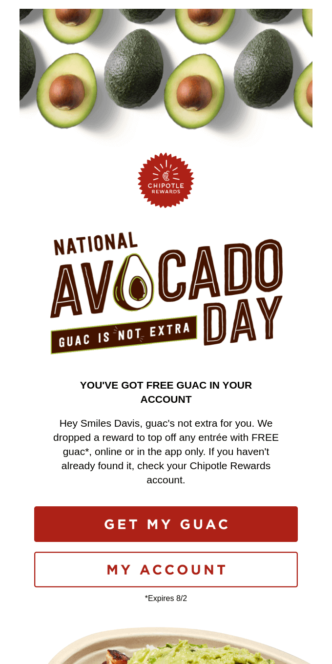 🥑 Guac's not extra today 🙌