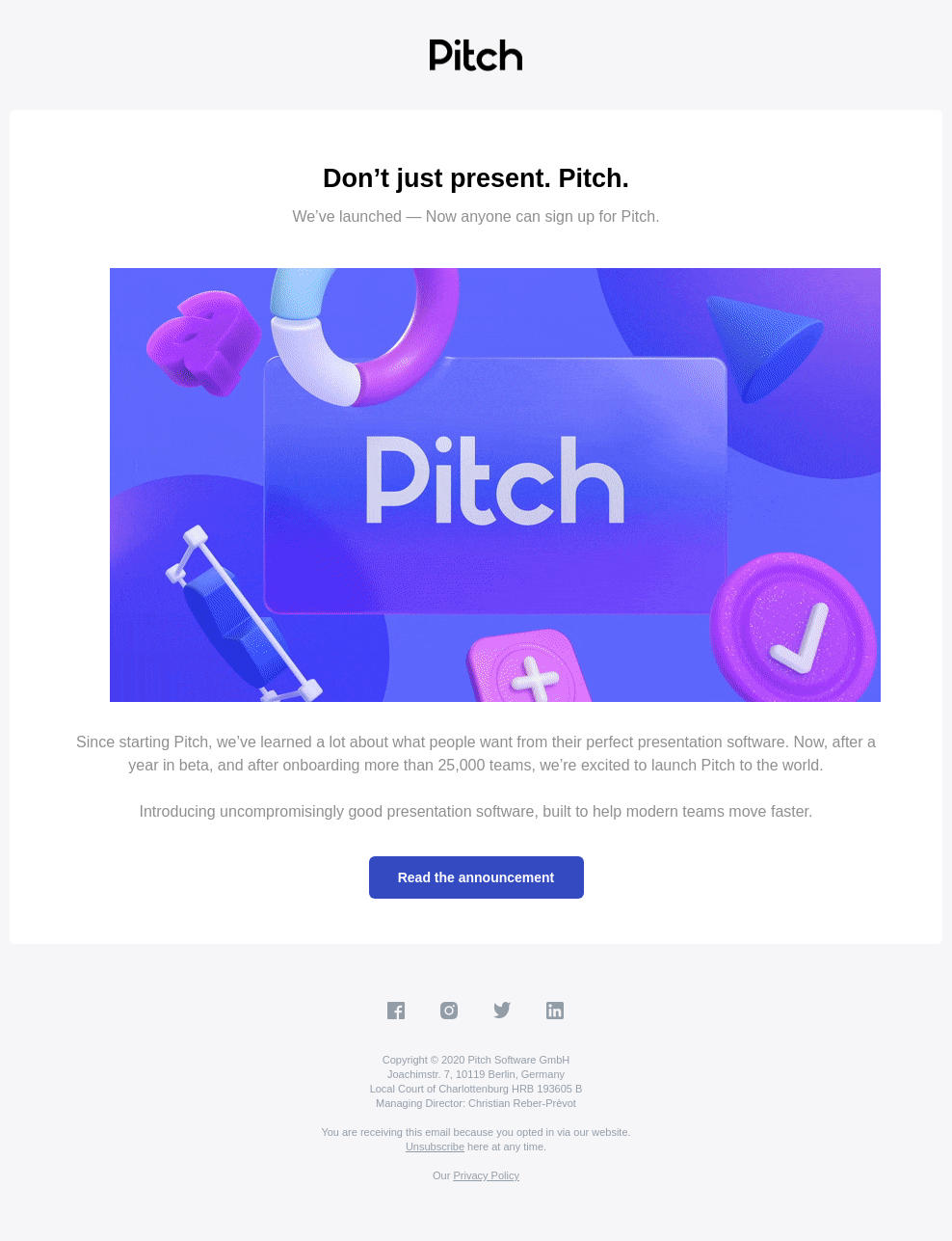 🚀 Pitch is Live