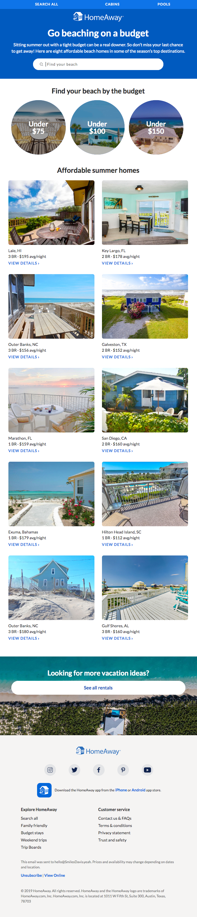 10 beautiful beach homes at budget prices