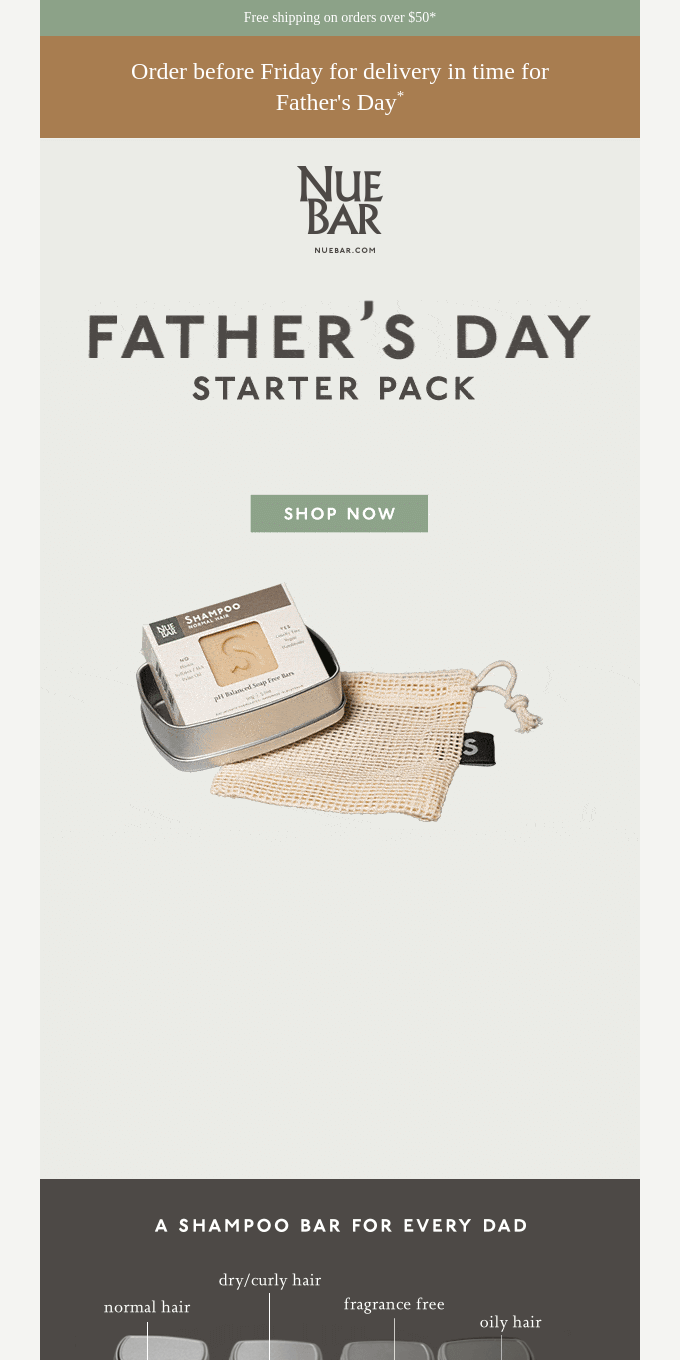 15% OFF Father's Day Starter Packs. 10% OFF Gift Cards.