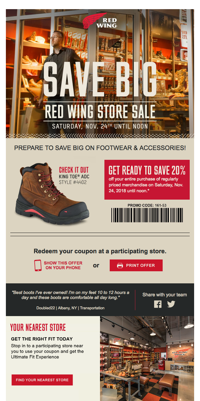 20% off All Footwear & Accessories This Saturday