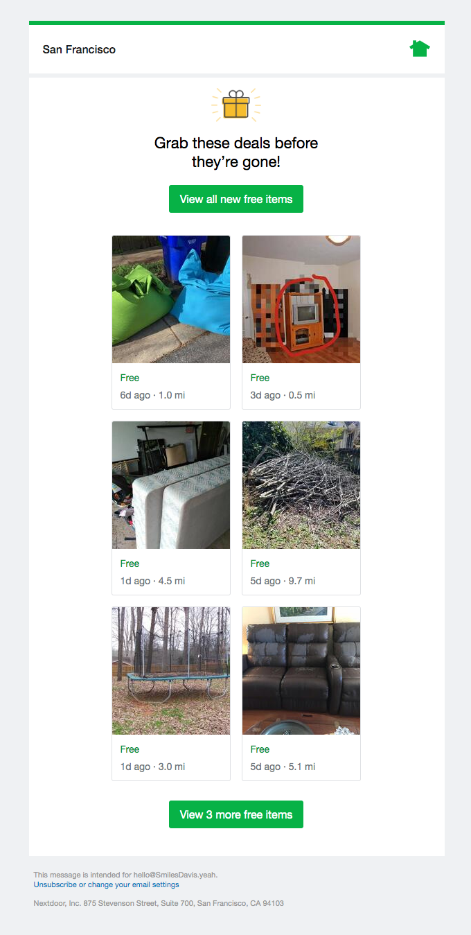 3 new free items from your neighbors