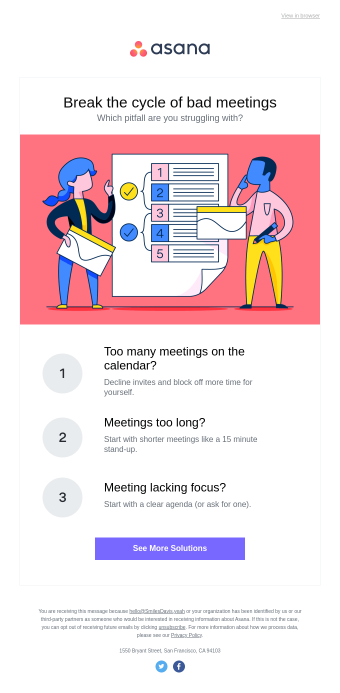 47% of employees don't think meetings are productive