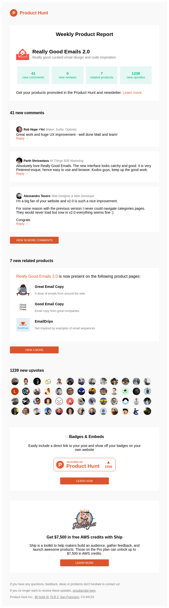 48 new updates for Really Good Emails 2.0
