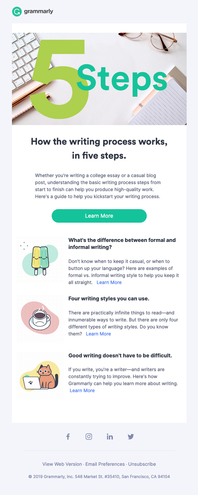 5 steps of the writing process you can master