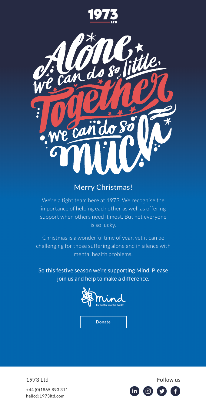 A Christmas message to bring us together…