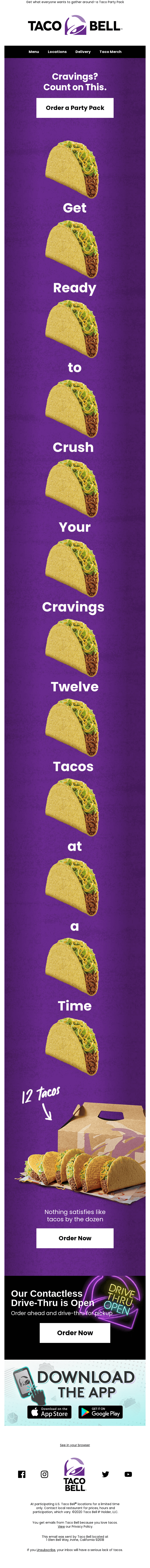 A dozen tacos? Your crew is here for it 🌮🌮🌮