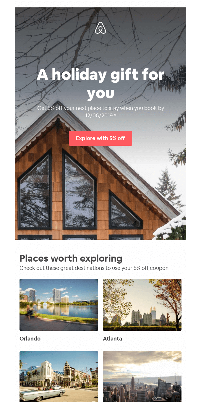A little gift from Airbnb