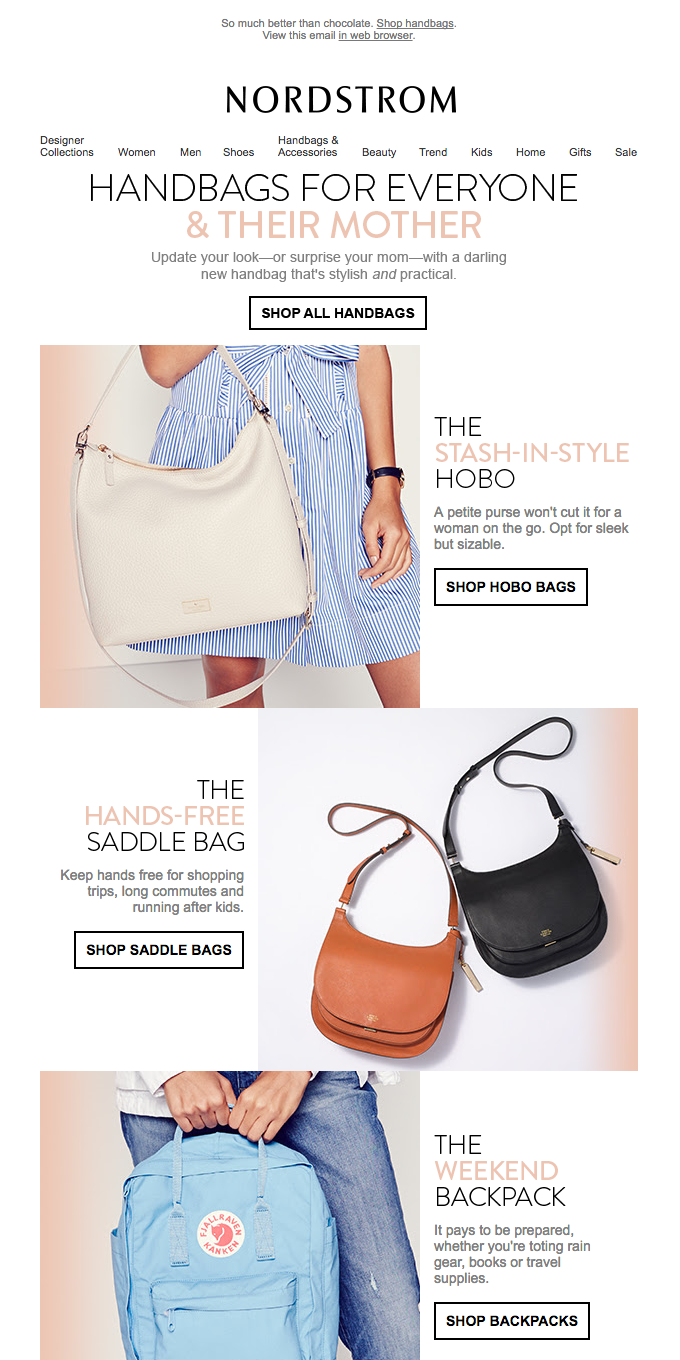 A mother lode of handbags for you or your mom