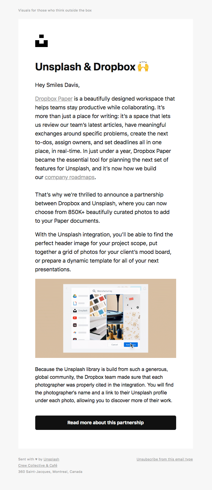 A partnership with Dropbox we think you'll love ❤️