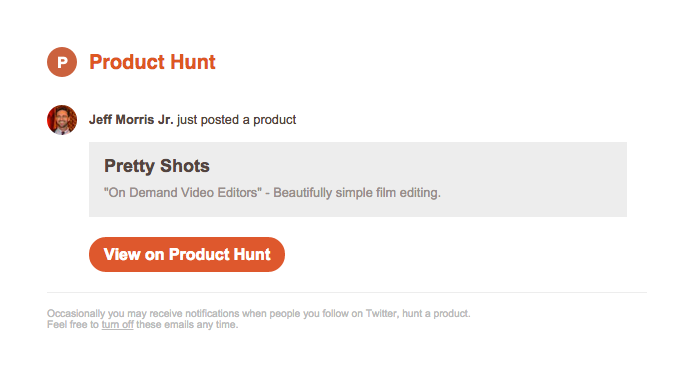 """Jeff Morris Jr. just posted """"Pretty Shots"""" on Product Hunt"""