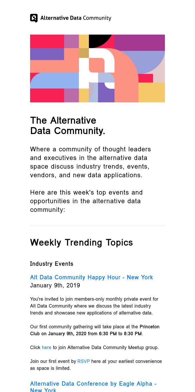 Alternative Data Community Weekly