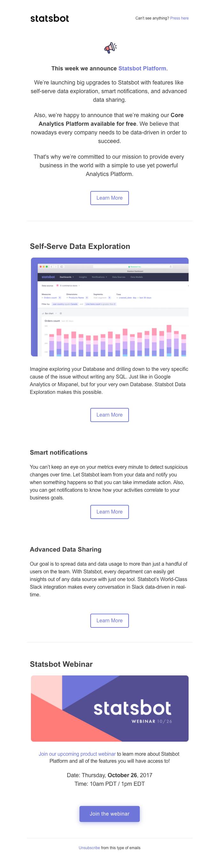 Announcing Statsbot Platform