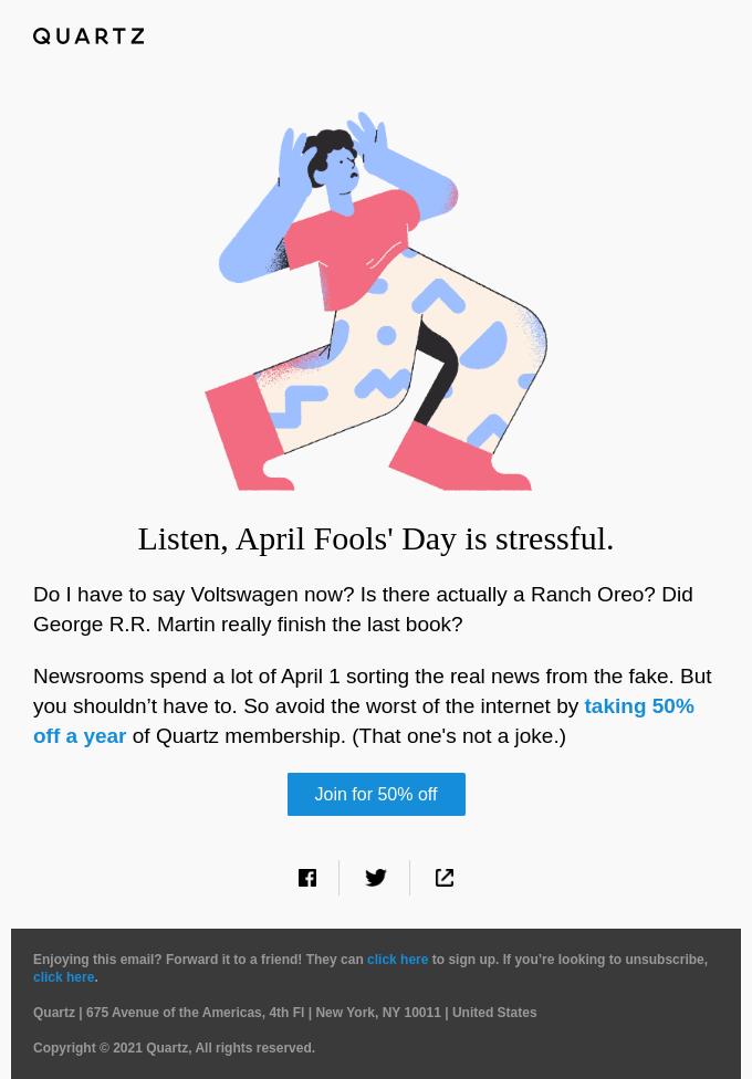 April Fools' is canceled