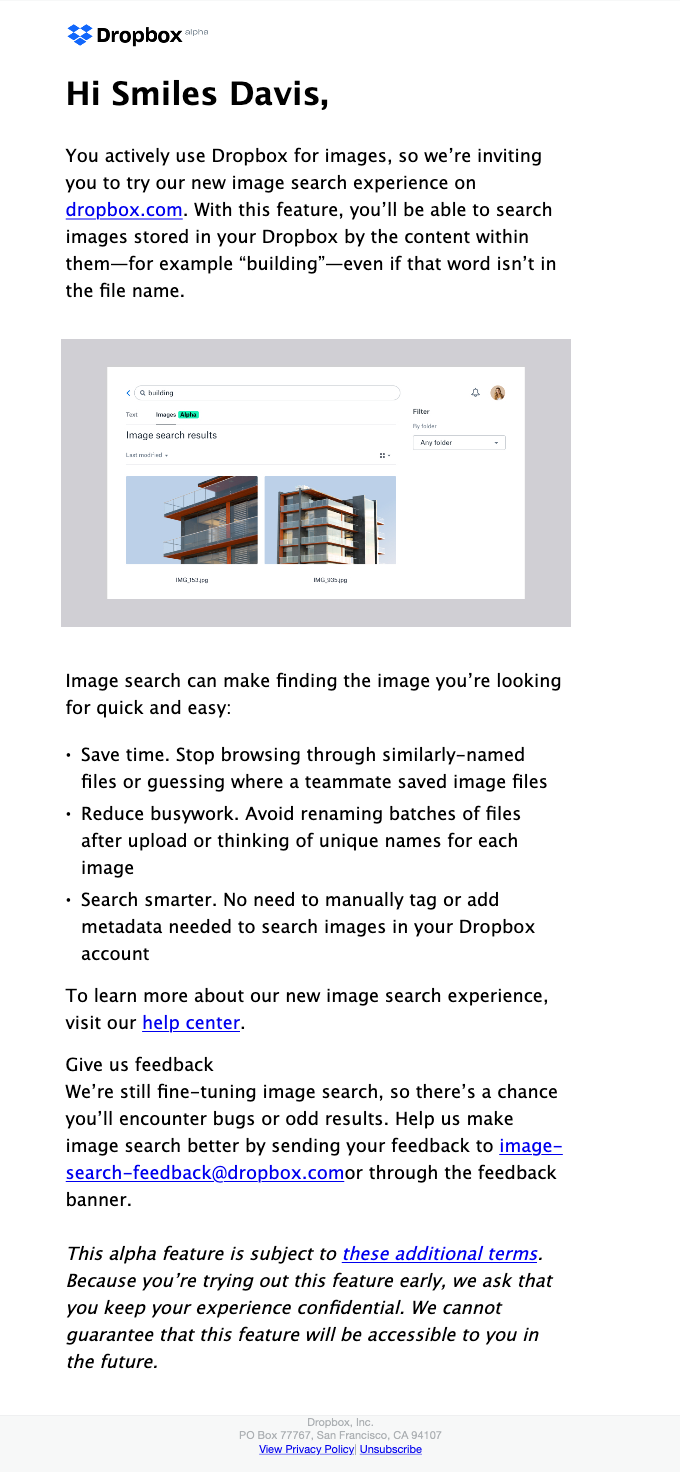 Be among the first to try our new image search