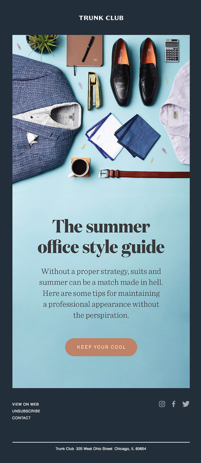 Beat the heat, boss. Here's our summer office style guide