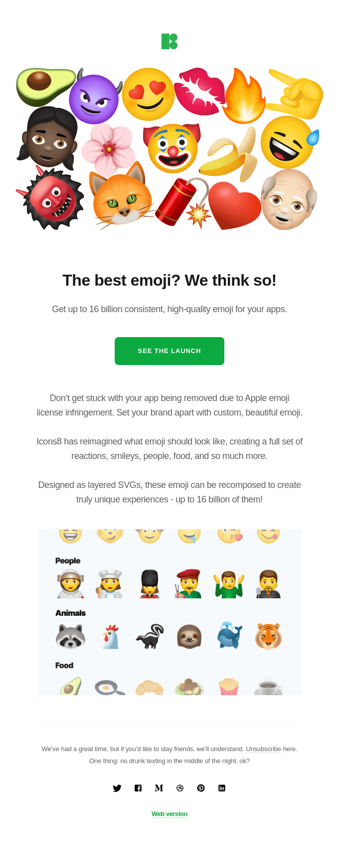 Beautiful and legal emoji have finally arrived!