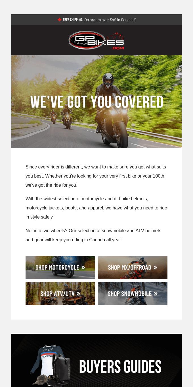 Bike, quad, or sled, we've got you covered ✅
