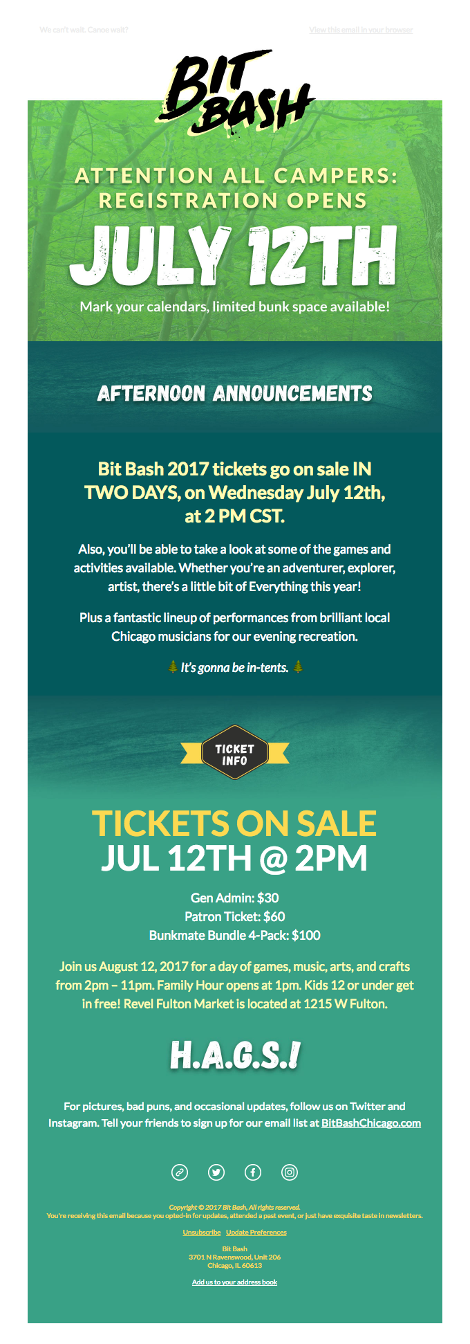 Bit Bash Tickets On Sale In 2 Days 🌲
