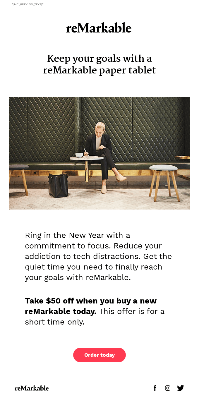 Bring focus to your year with our New Year's offer