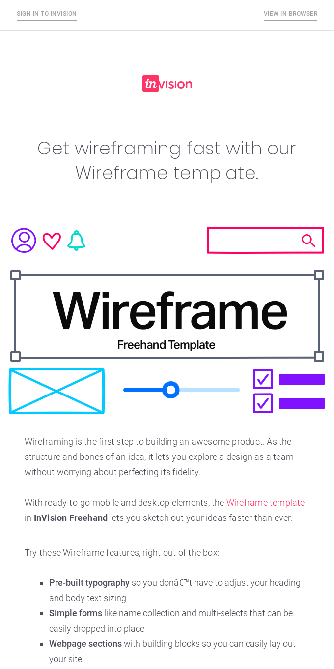 Build wireframes with Freehand