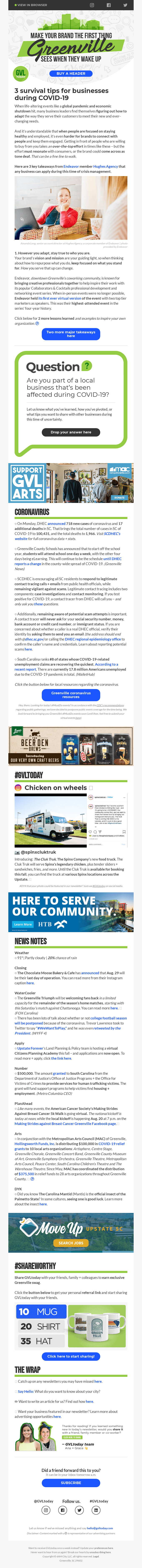 Business survival tips during COVID-19 + a fried chicken food truck