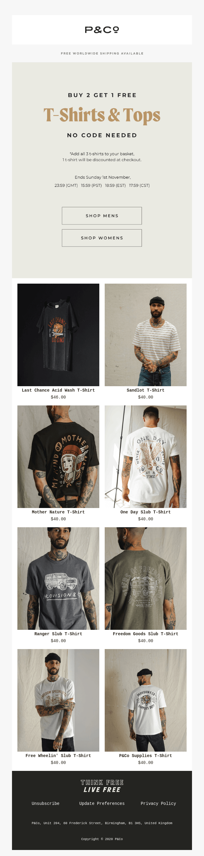 Buy 2 Get 1 Free | All T-Shirts ⚡️