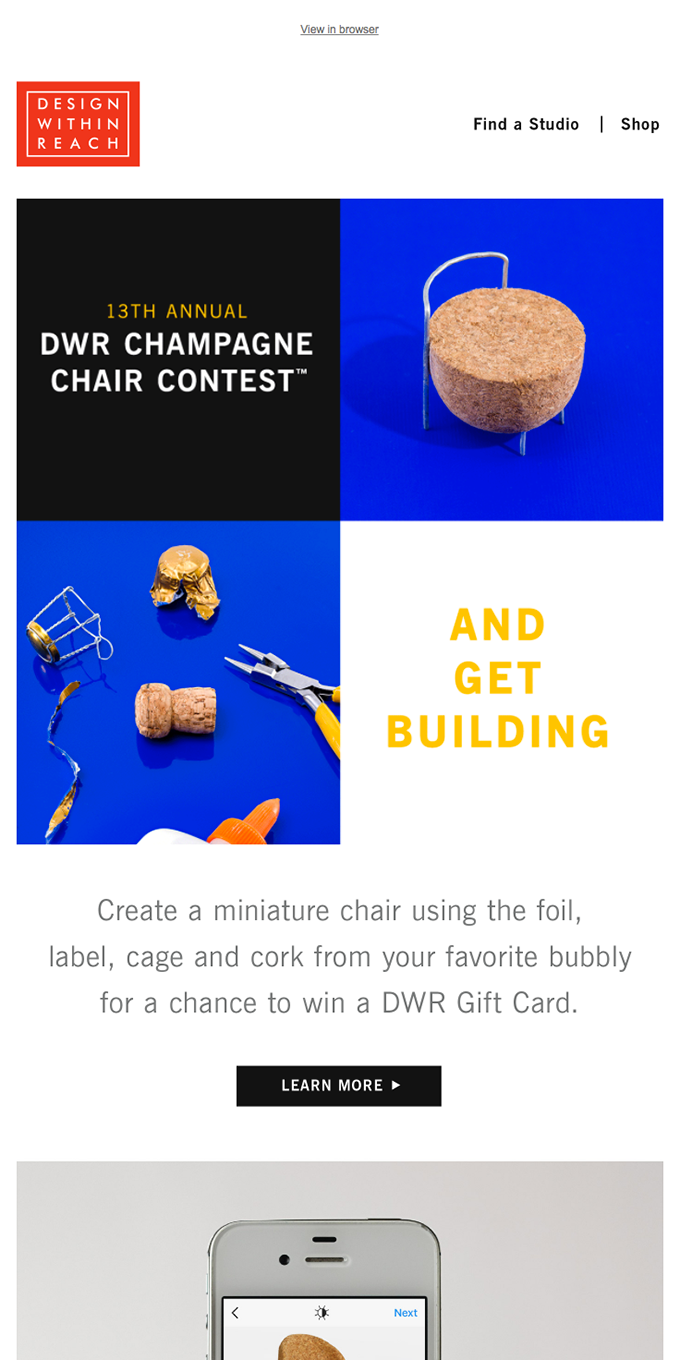 Call for entries: DWR Champagne Chair Contest
