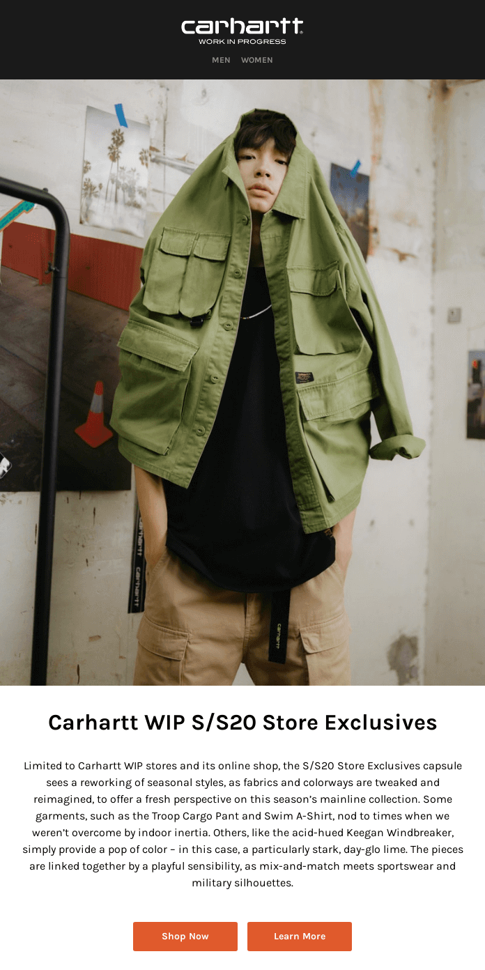 Carhartt WIP S/S20 Store Exclusives