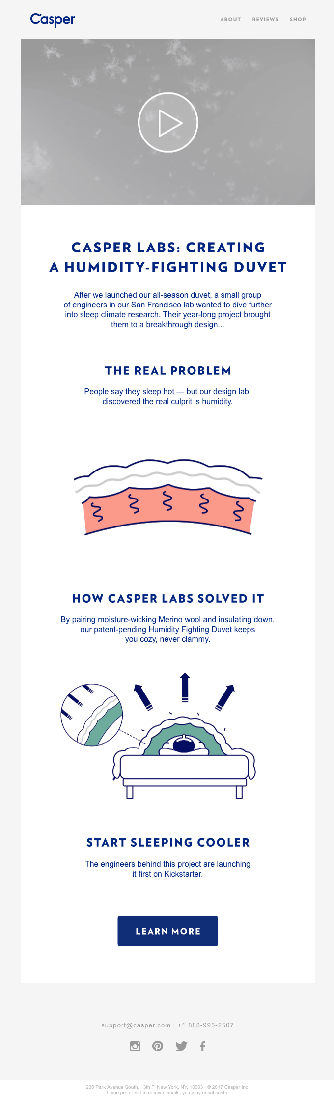 Casper Labs: Creating a Humidity-fighting Duvet