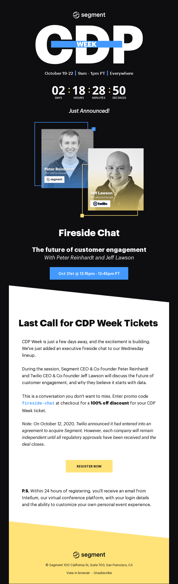 [CDP Week] Just Announced: Fireside Chat with Twilio CEO Jeff Lawson