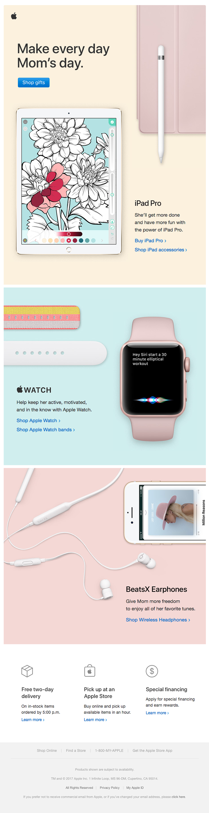 Celebrate Mom with Apple gifts.