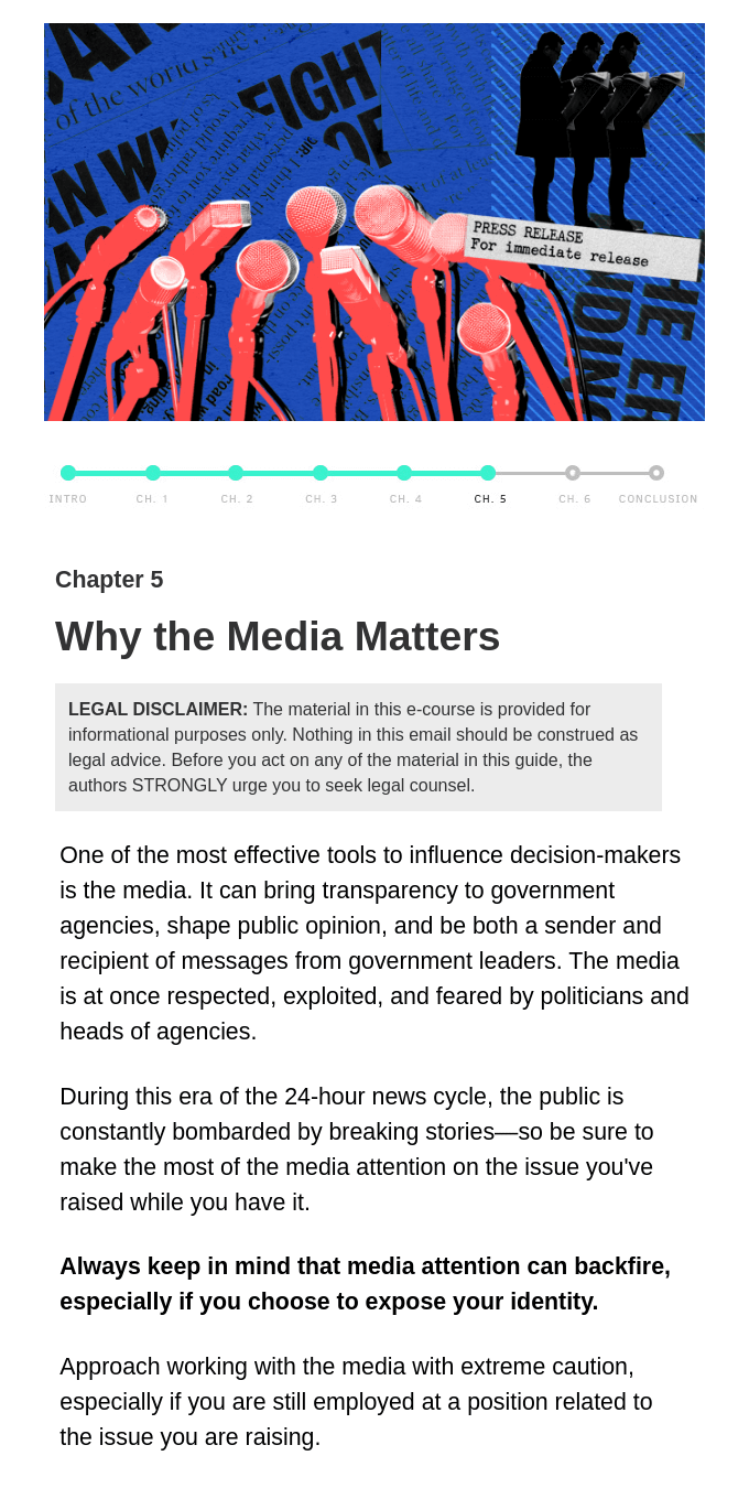 Chapter 5: Why the media matters