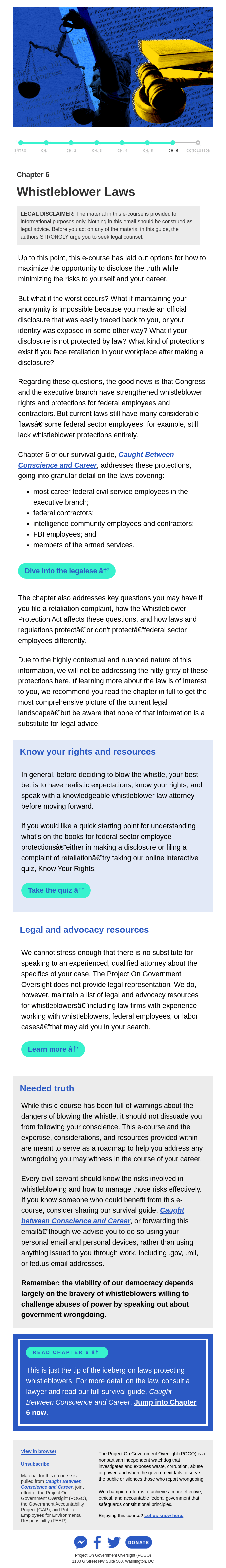 Chapter 6: Know your rights and resources