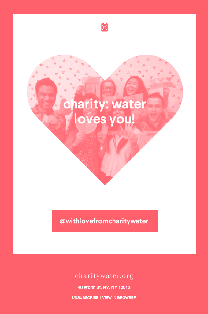Charity: Water loves you