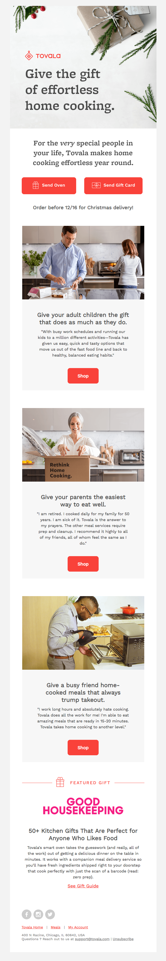Food Emails | Really Good Emails