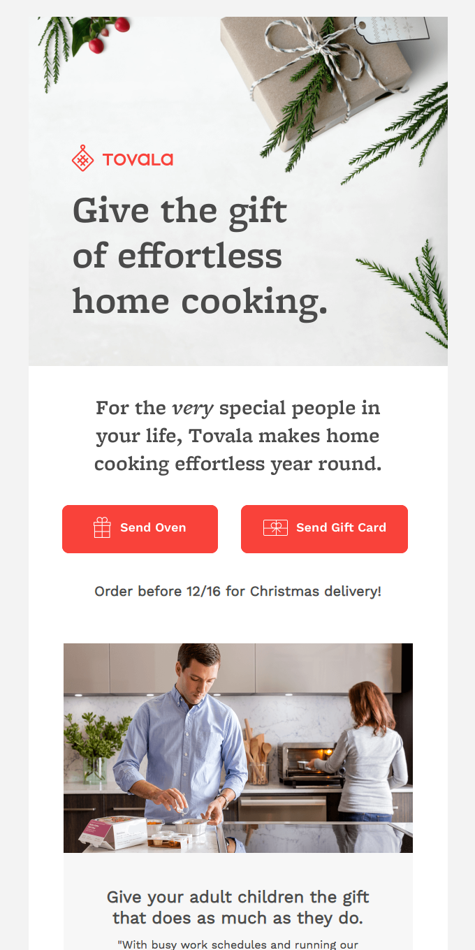 Check your list twice: Tovala's the perfect gift for everyone on your list