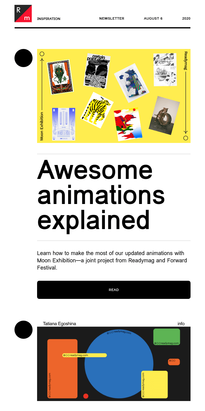 Chic portfolio template & animation in action
