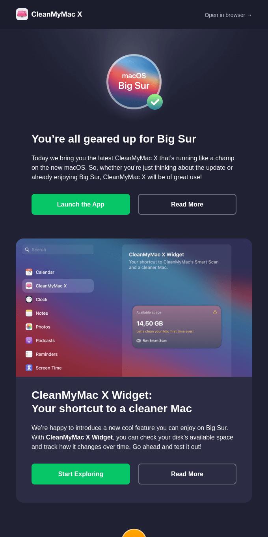[CleanMyMac X Update] Massive improvements for Big Sur
