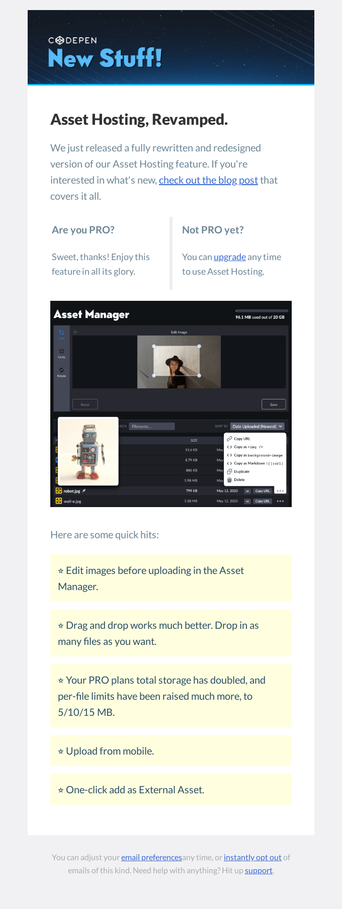 [CodePen] Asset Hosting, Revamped.