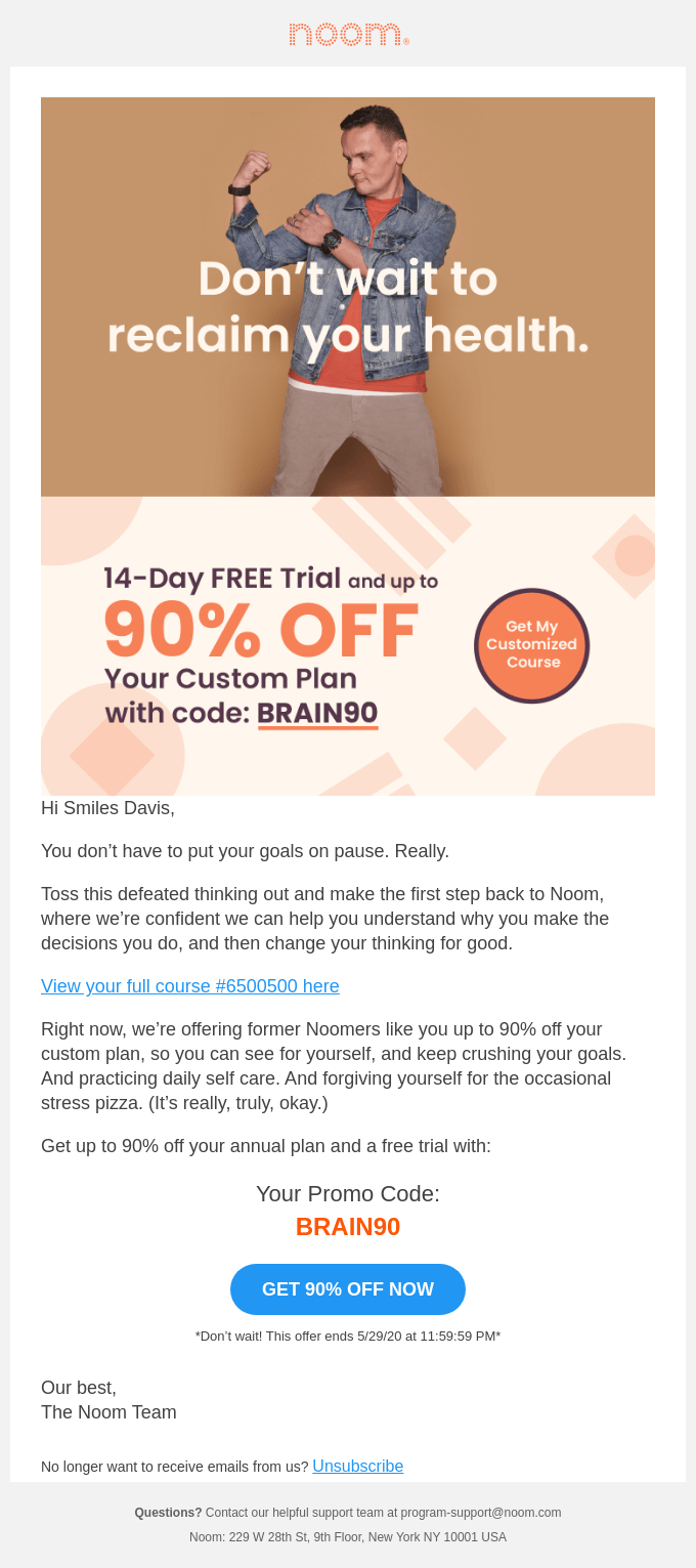 Come back to get your Custom Plan for up to 90% Off