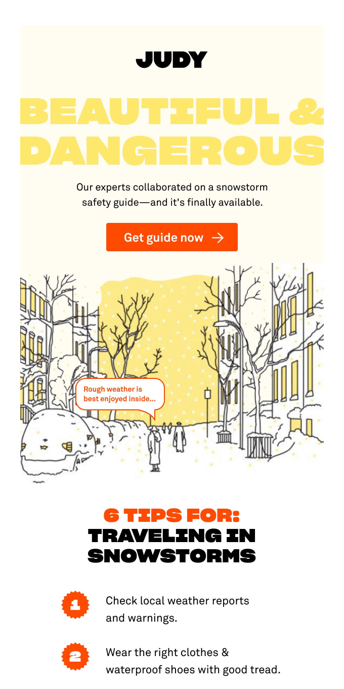 Complete snowstorm guide now available 🌨️