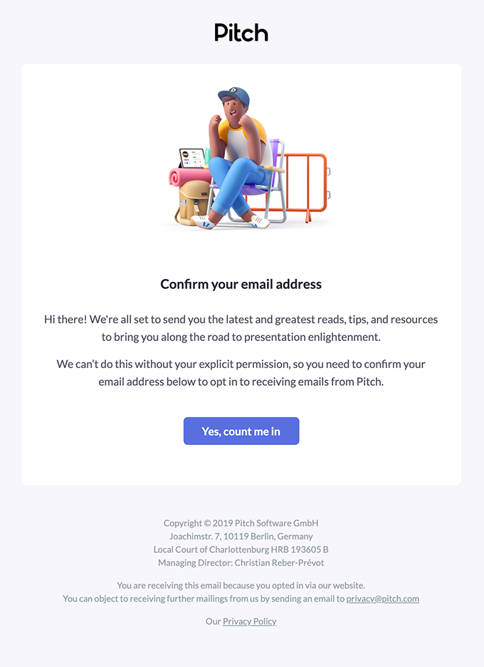 Confirm your email address