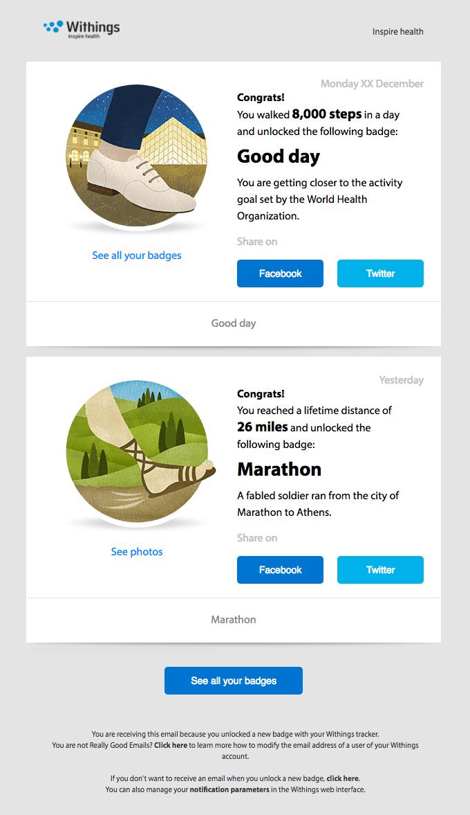 Congratulations for unlocking the Marathon badge!