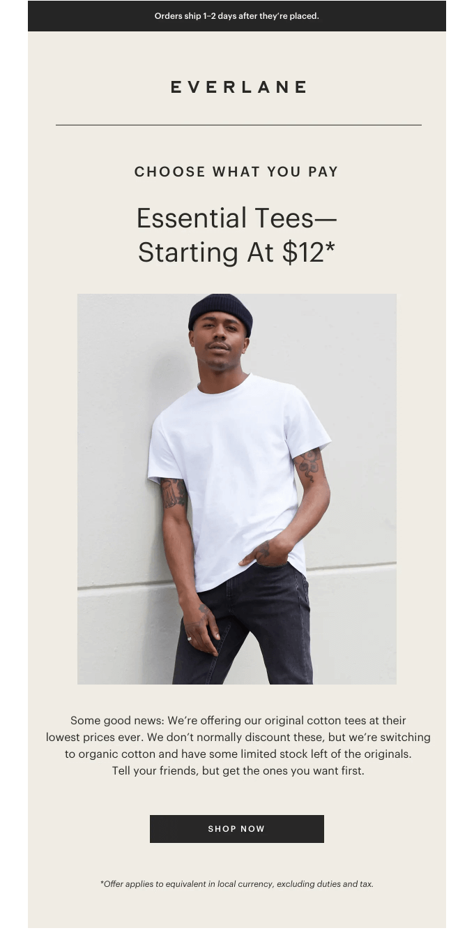 Core Cotton Tees From $12.