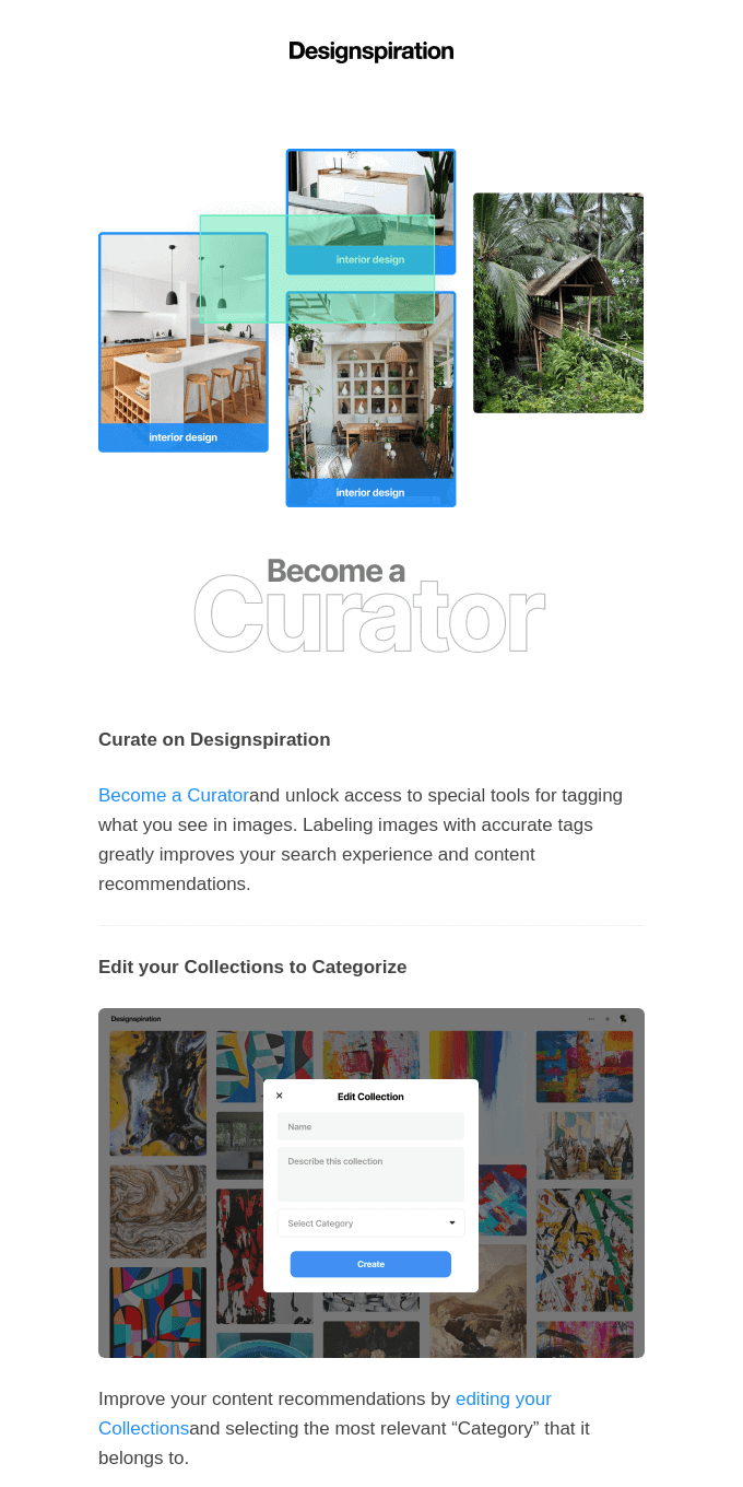 Curate on Designspiration