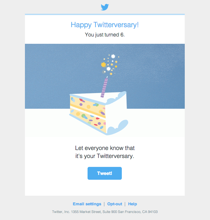 Happy Twitterversary!
