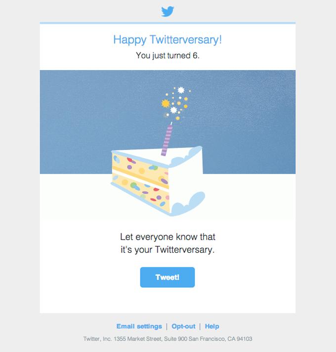 Happy Twitterversary!
