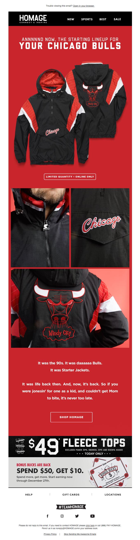 Daaaaaaaaaaaaaaaaaaaaaa Bulls. | NEW Starter Jacket